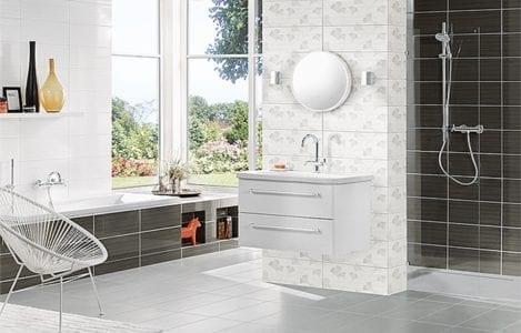 Stilren badrumsinredning från välkända varumärken